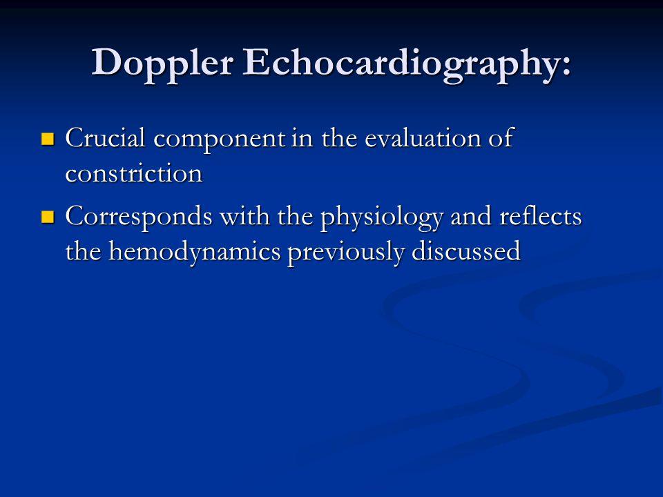 Doppler Echocardiography: