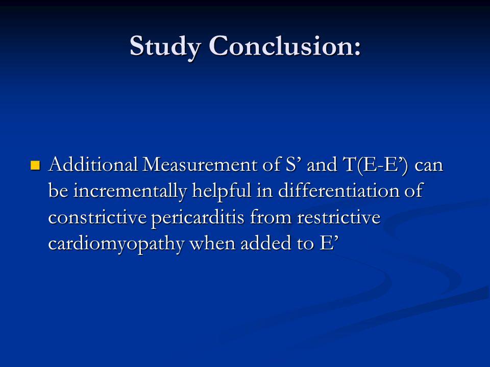 Study Conclusion: