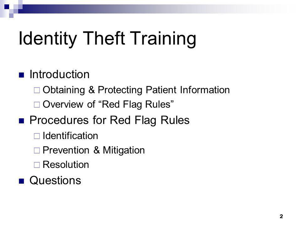 Identity Theft Training