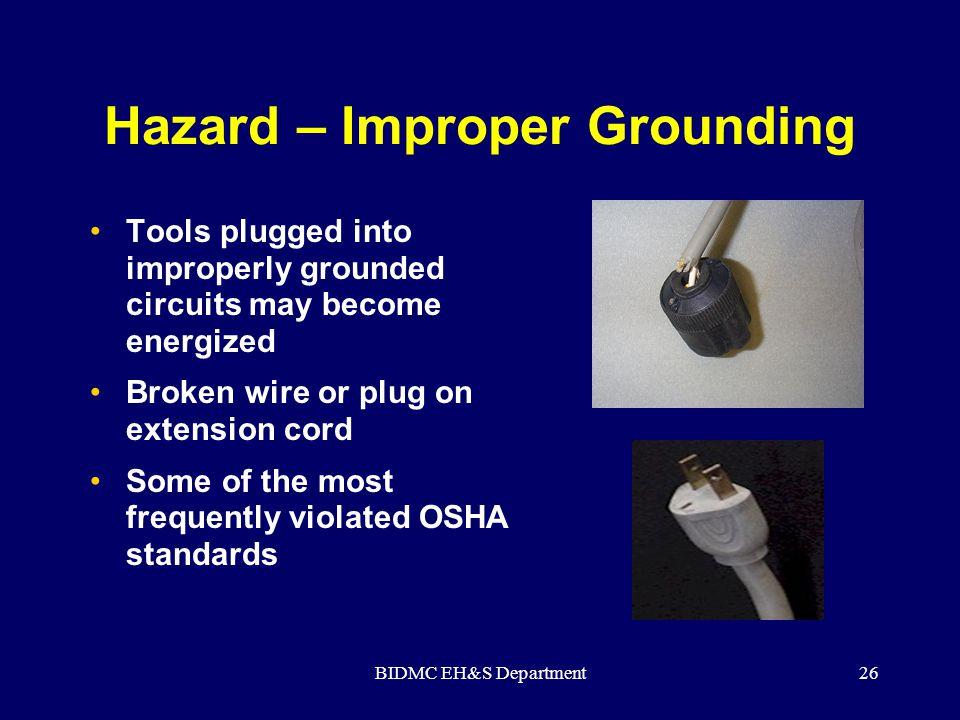 Hazard – Improper Grounding