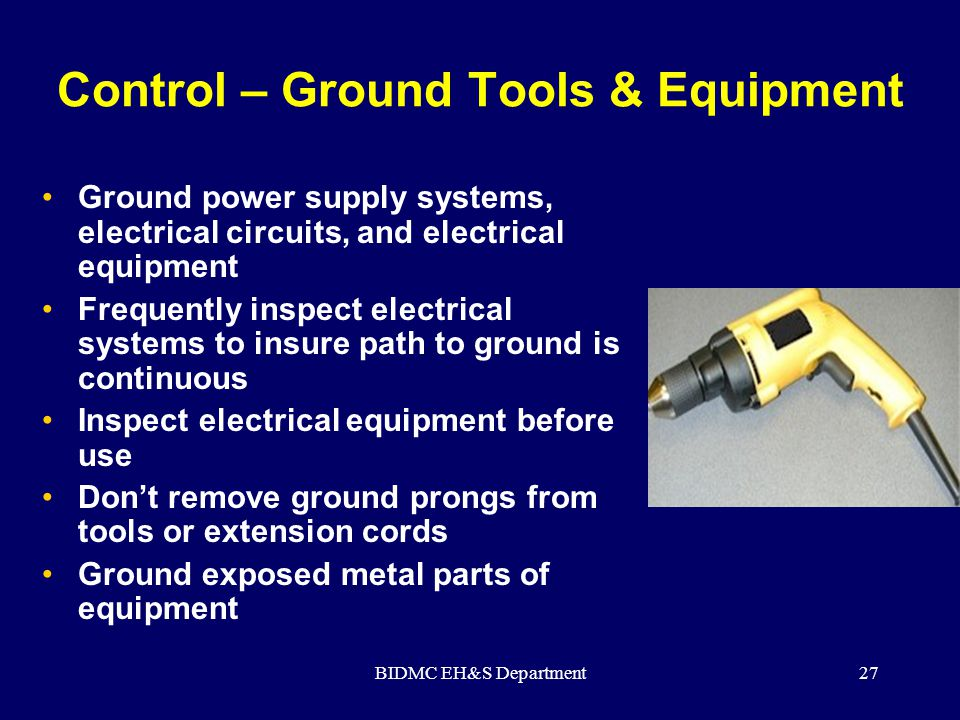 Control – Ground Tools & Equipment