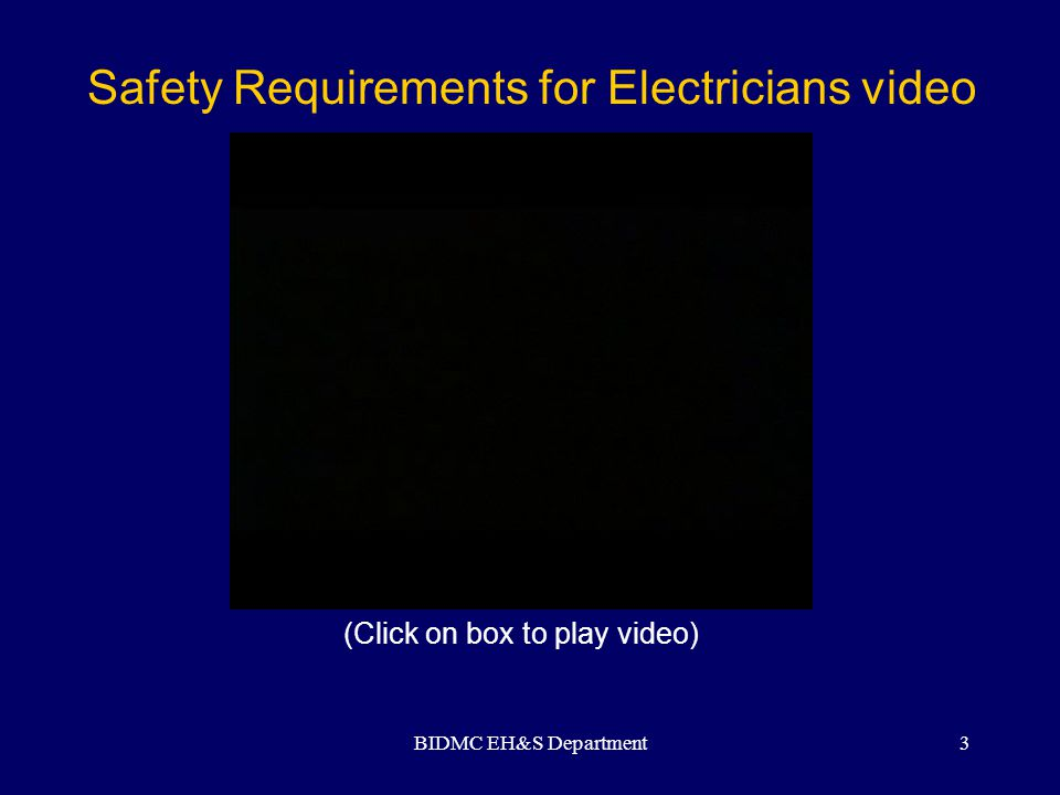 Safety Requirements for Electricians video
