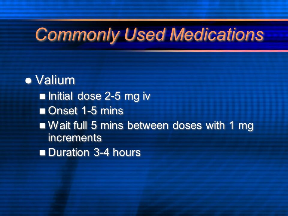 Commonly Used Medications