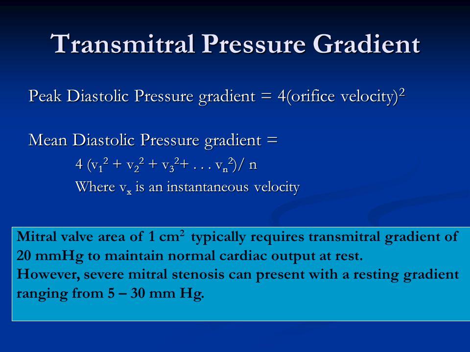 Transmitral Pressure Gradient