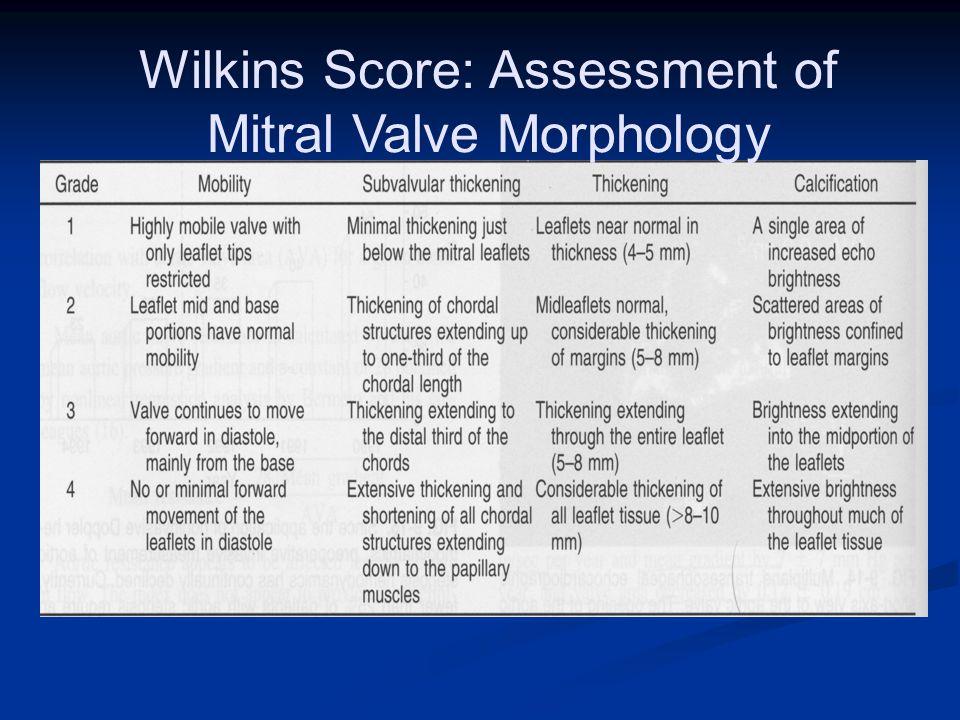 Wilkins Score: Assessment of Mitral Valve Morphology