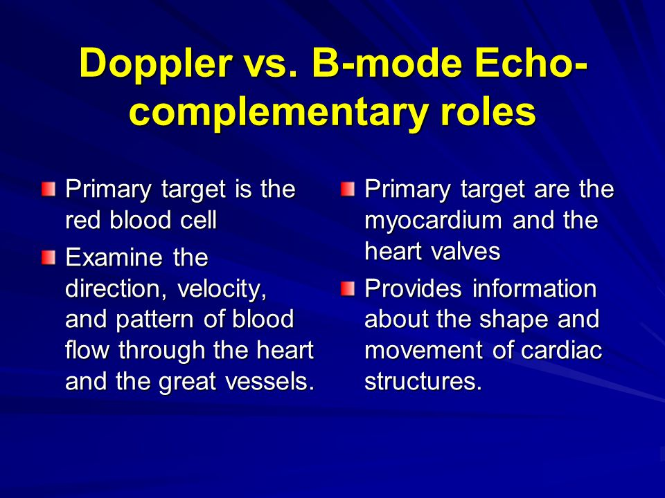 Doppler Echocardiography - ppt video online download