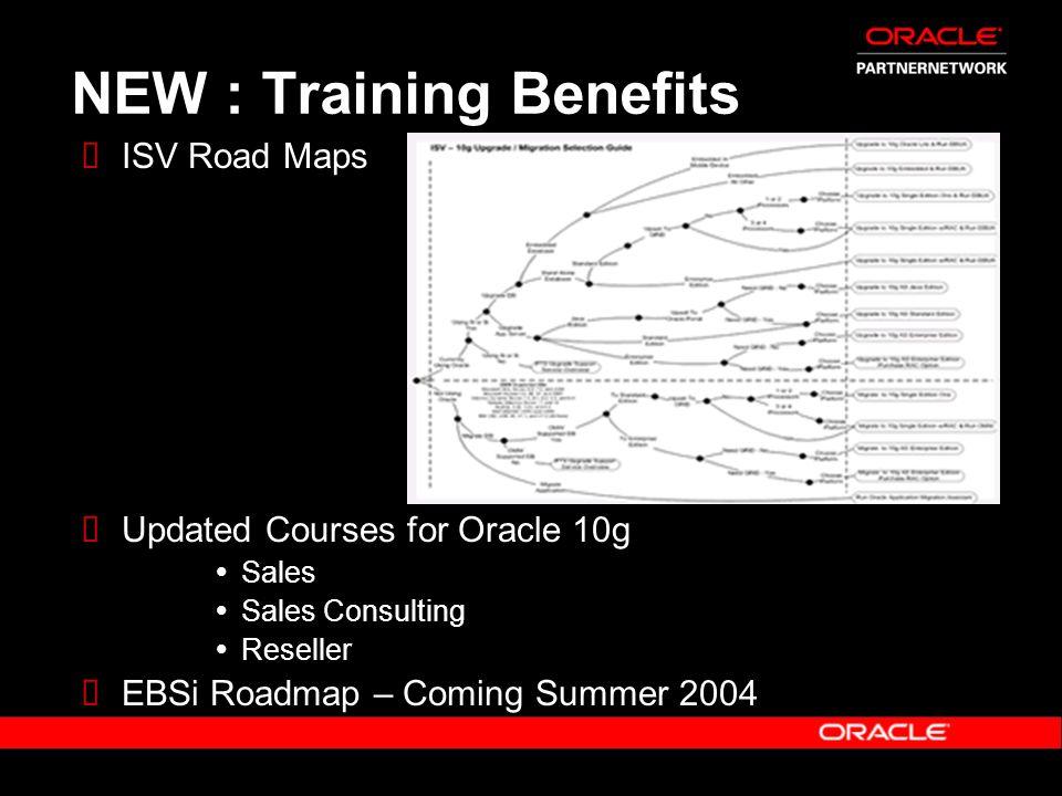 NEW : Training Benefits