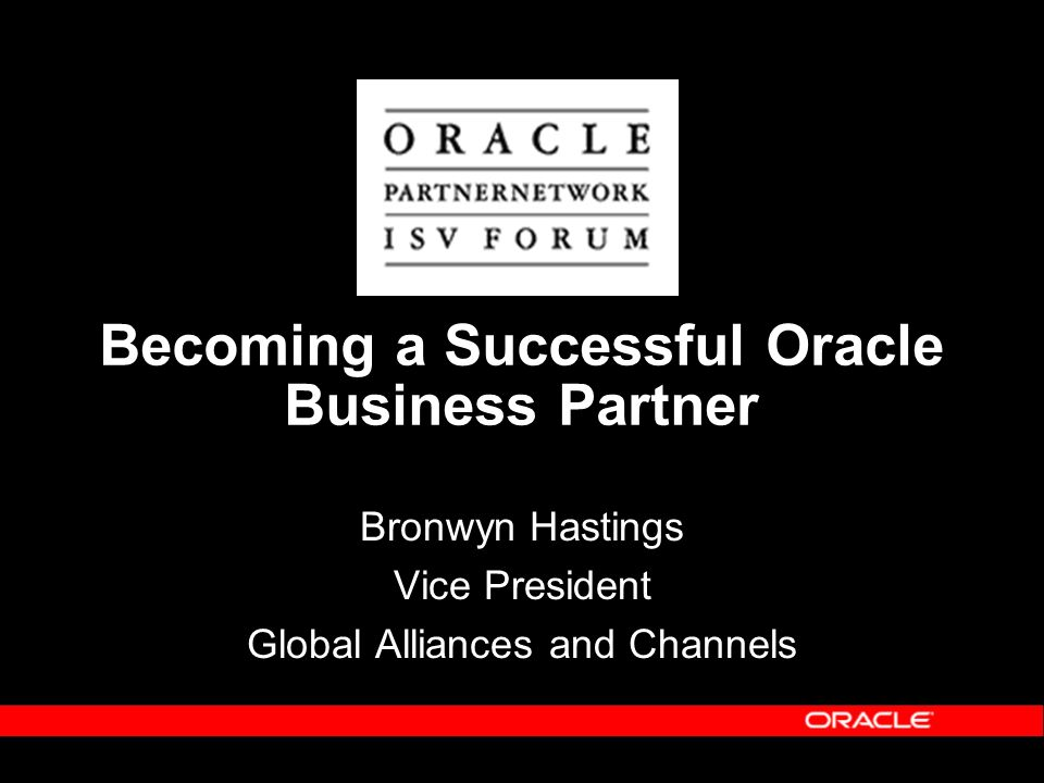 Becoming a Successful Oracle Business Partner