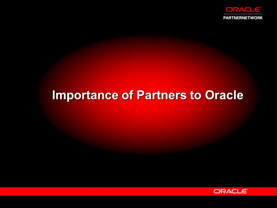 Importance of Partners to Oracle