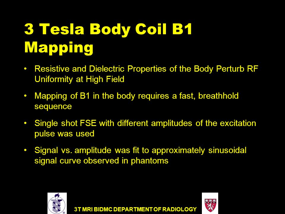 3 Tesla Body Coil B1 Mapping