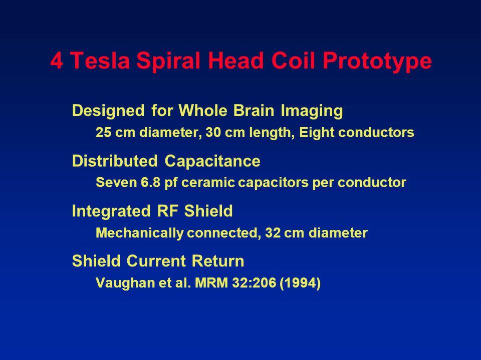 4 Tesla Spiral Head Coil Prototype