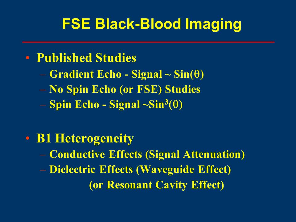 FSE Black-Blood Imaging