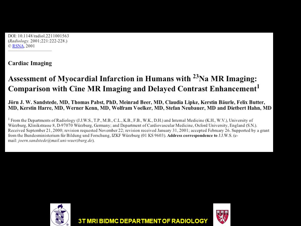 Correlation of 23Na MR Imaging Findings with Cine, Late-Enhancement, and T2-weighted Findings