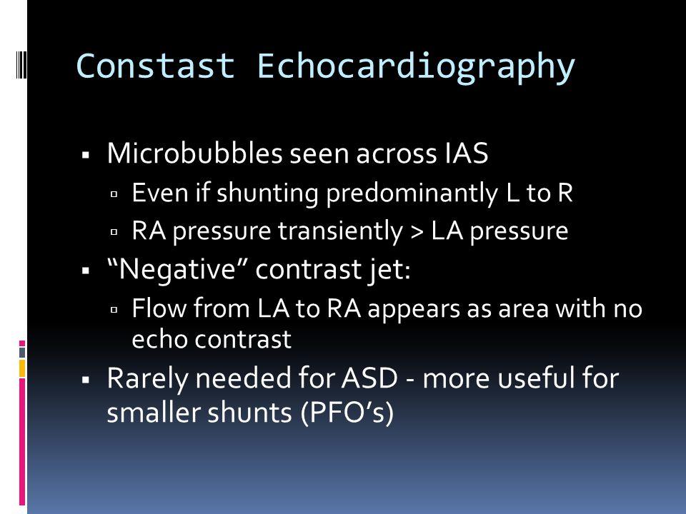 Constast Echocardiography