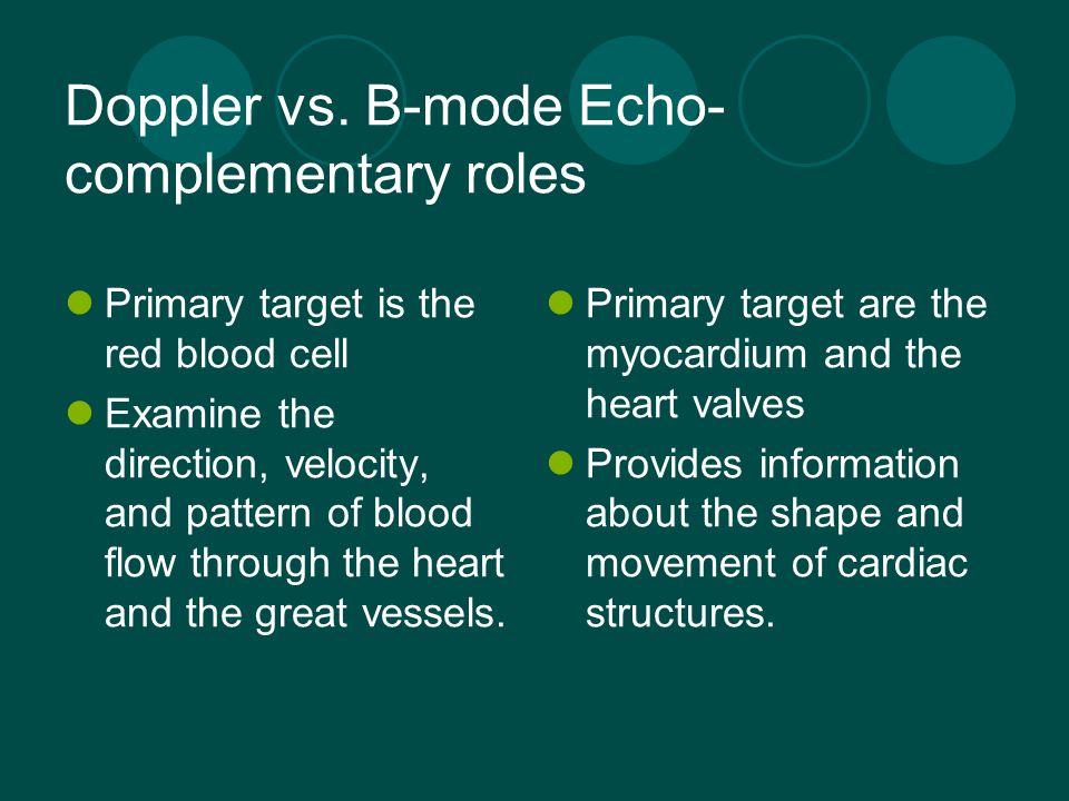 Doppler vs. B-mode Echo- complementary roles