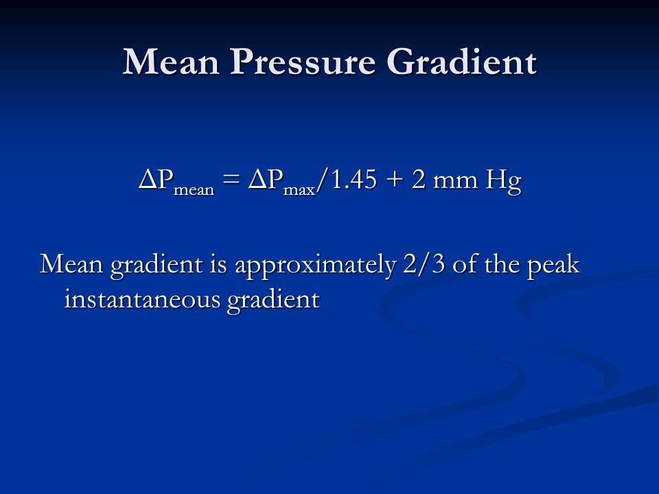 Mean Pressure Gradient