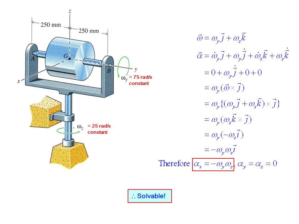 = 75 rad/s constant = 25 rad/s constant ∴ Solvable!