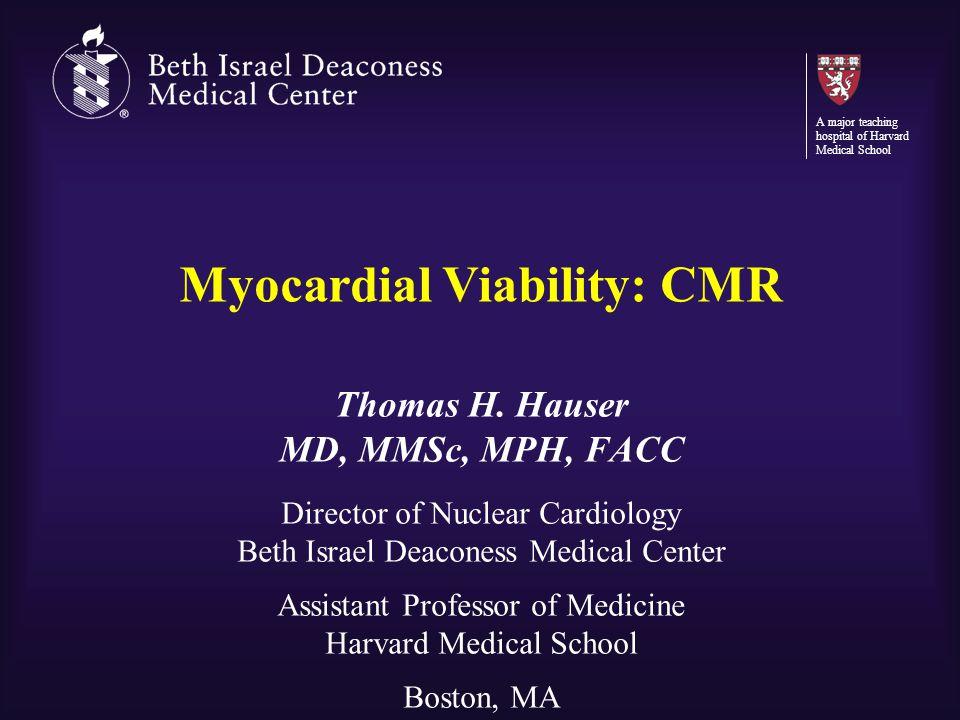 Myocardial Viability: CMR