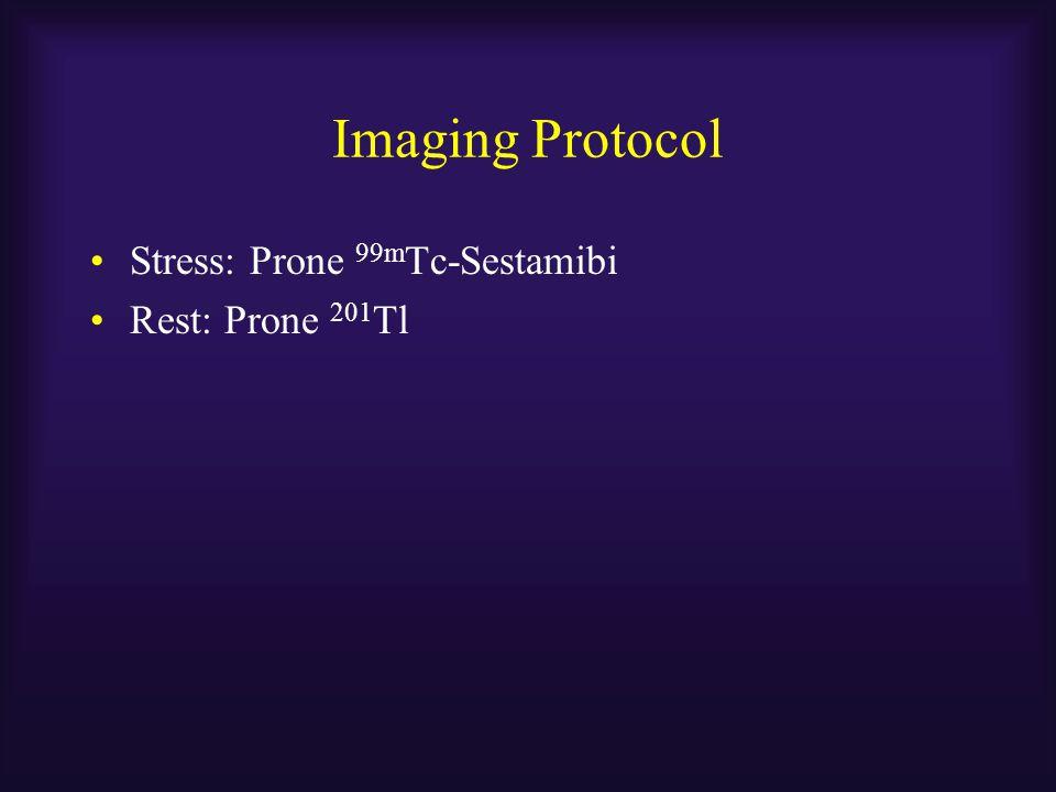 Imaging Protocol Stress: Prone 99mTc-Sestamibi Rest: Prone 201Tl