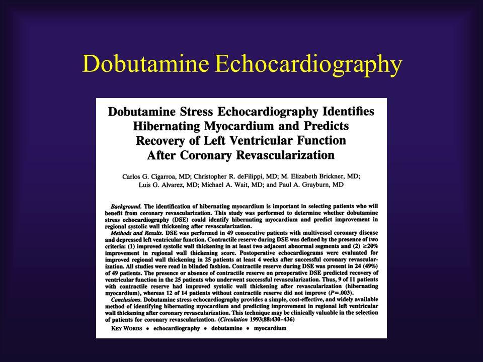 Dobutamine Echocardiography