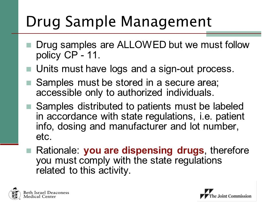 Drug Sample Management
