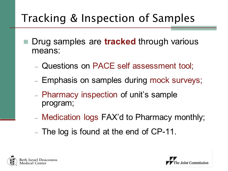 Tracking & Inspection of Samples