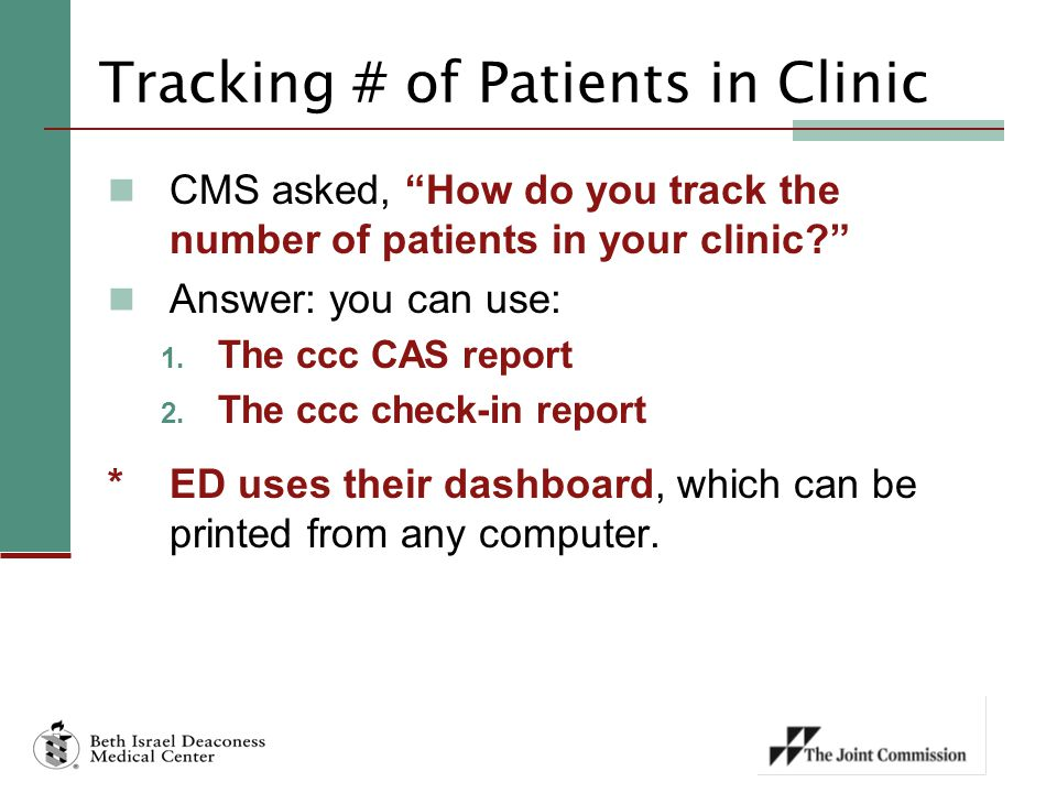 Tracking # of Patients in Clinic