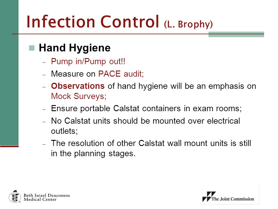 Infection Control (L. Brophy)
