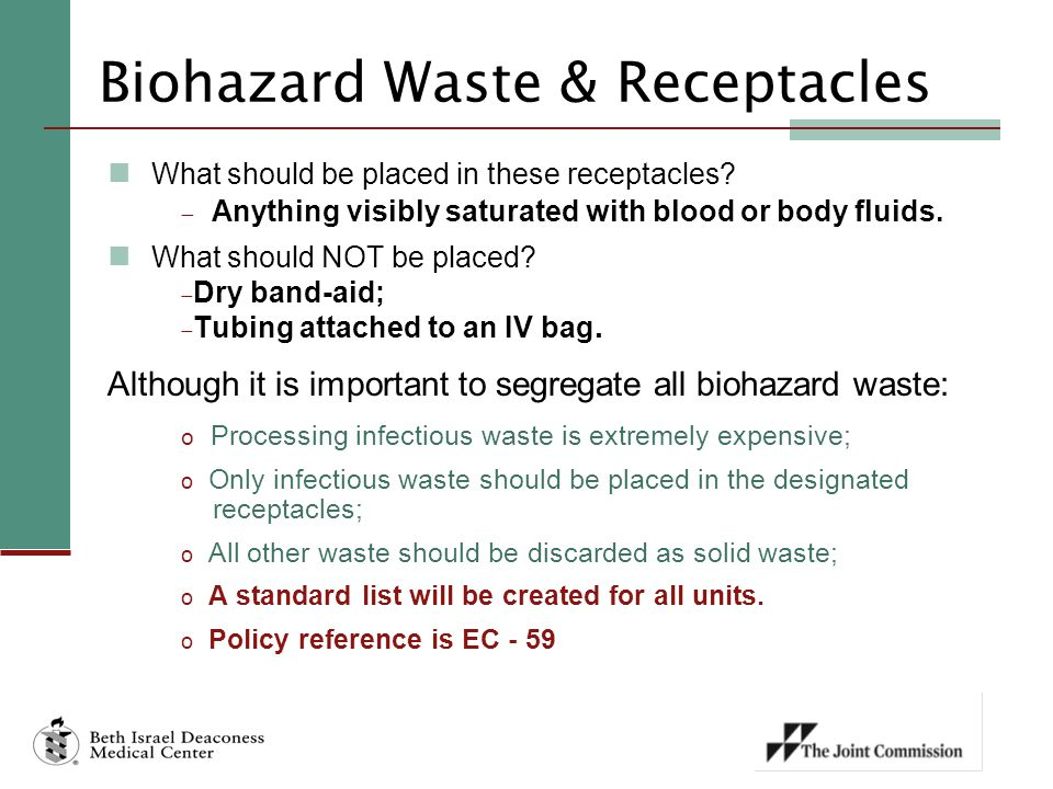 Biohazard Waste & Receptacles