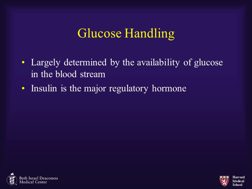 Glucose Handling Largely determined by the availability of glucose in the blood stream.
