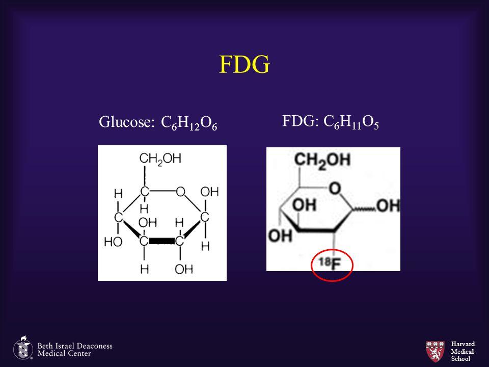 FDG Glucose: C6H12O6 FDG: C6H11O5