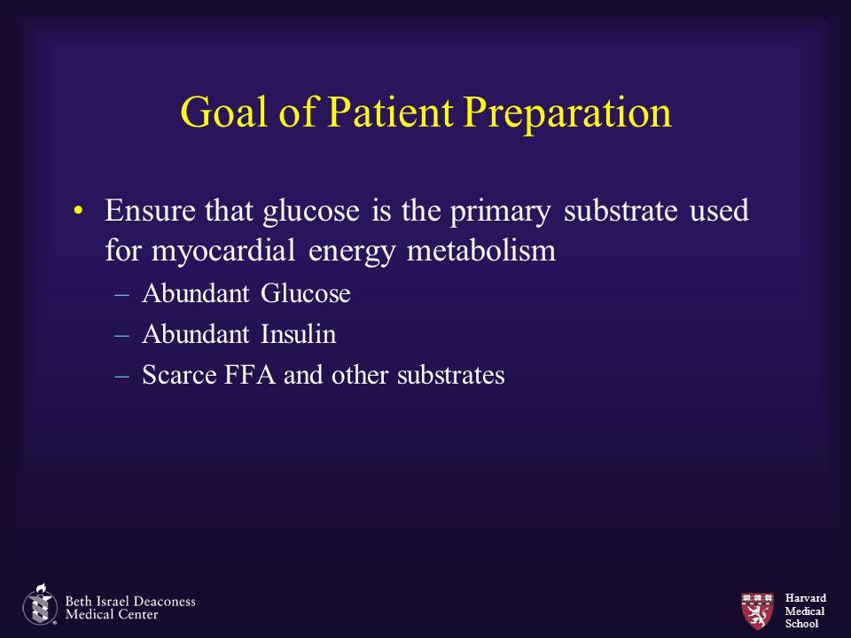Goal of Patient Preparation