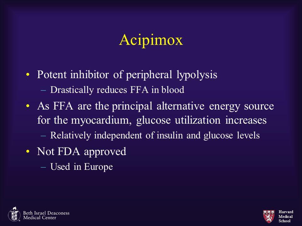 Acipimox Potent inhibitor of peripheral lypolysis