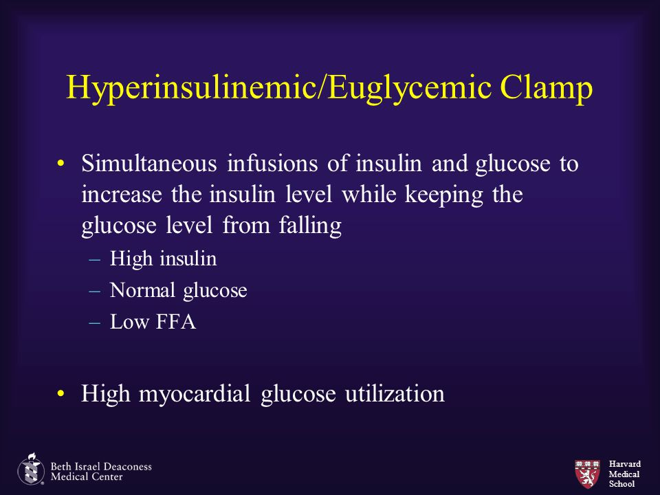 Hyperinsulinemic/Euglycemic Clamp