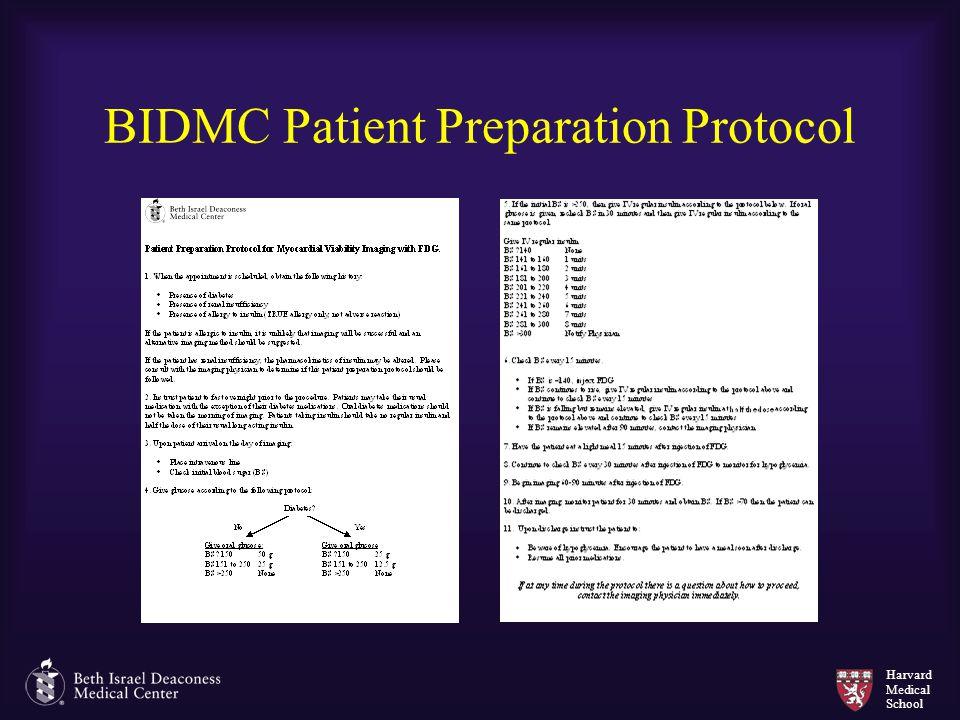 BIDMC Patient Preparation Protocol