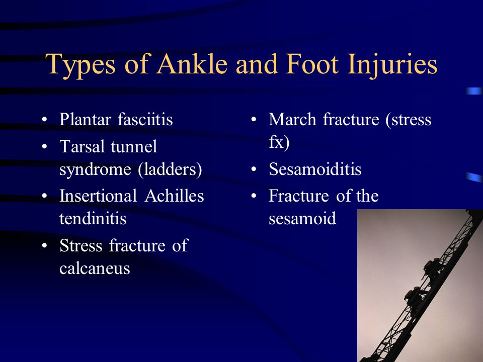 Types of Ankle and Foot Injuries