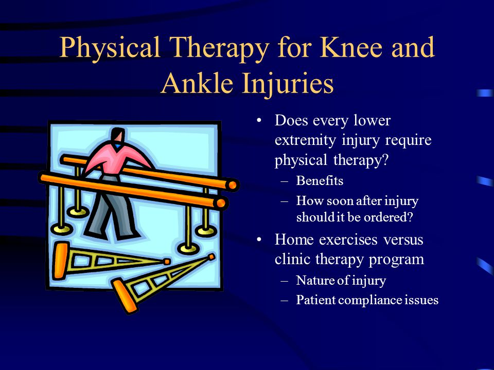 Physical Therapy for Knee and Ankle Injuries