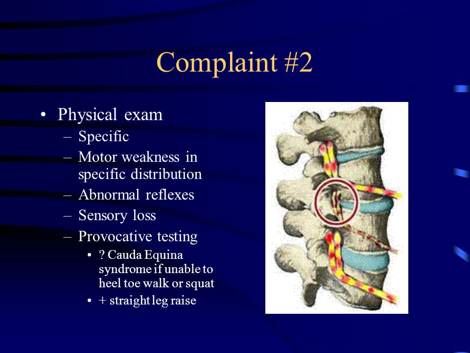 Complaint #2 Physical exam Specific