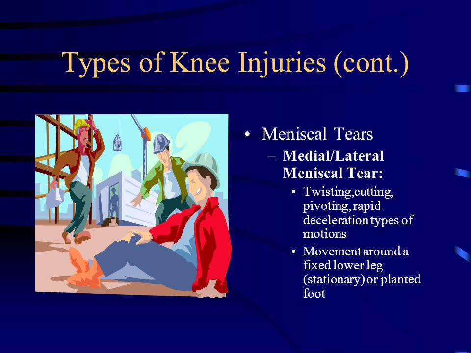 Types of Knee Injuries (cont.)