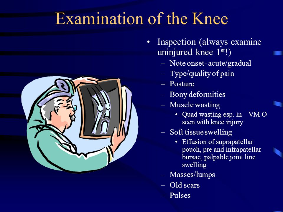 Examination of the Knee