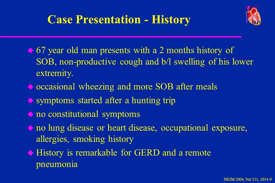 Case Presentation - History