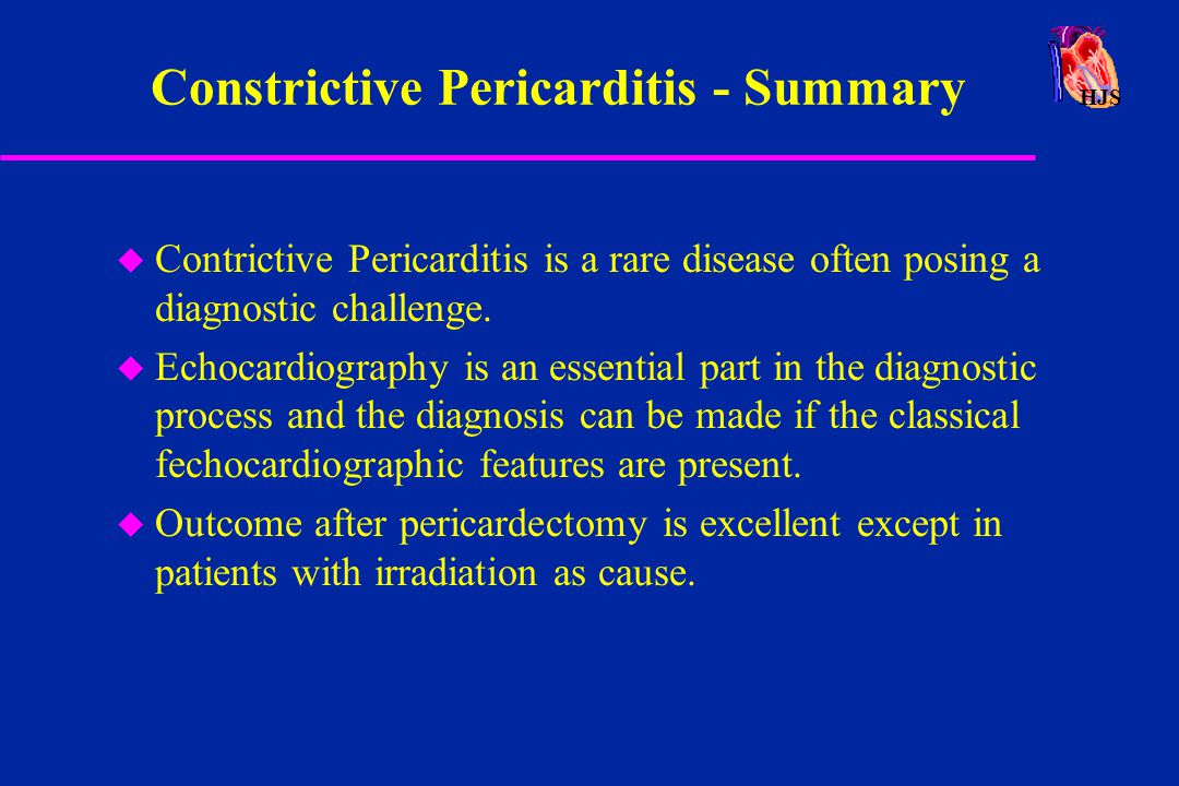 Constrictive Pericarditis - Summary
