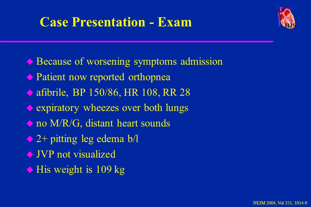 Case Presentation - Exam