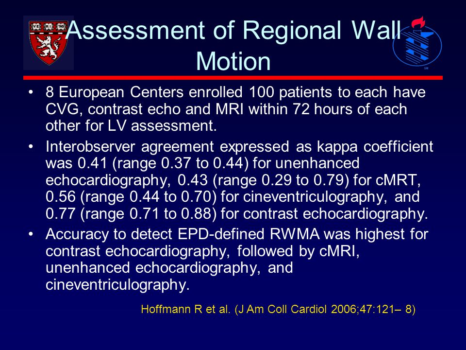Assessment of Regional Wall Motion