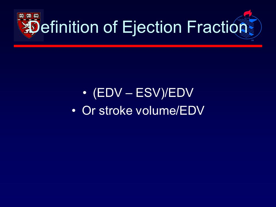 Definition of Ejection Fraction
