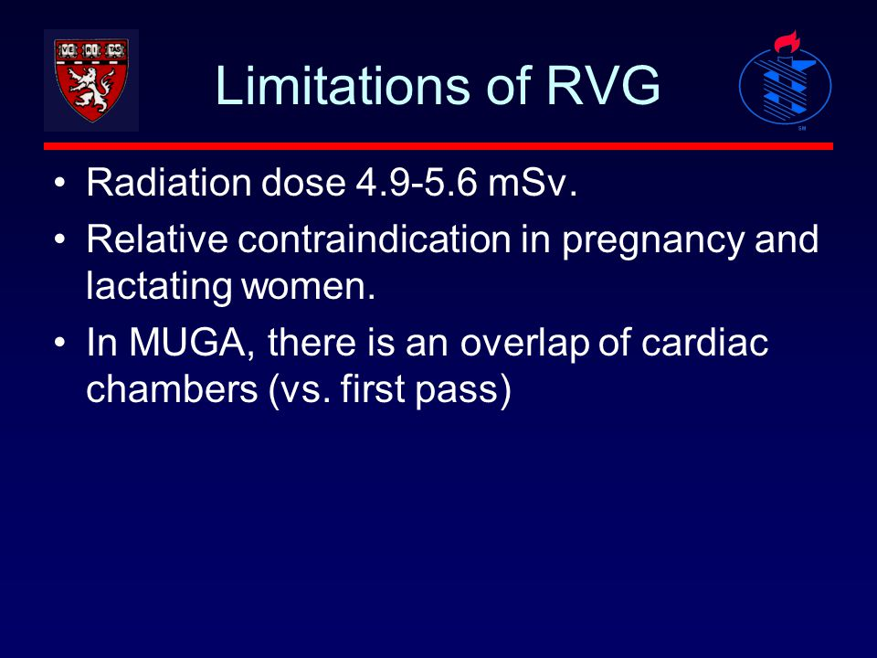 Limitations of RVG Radiation dose 4.9-5.6 mSv.