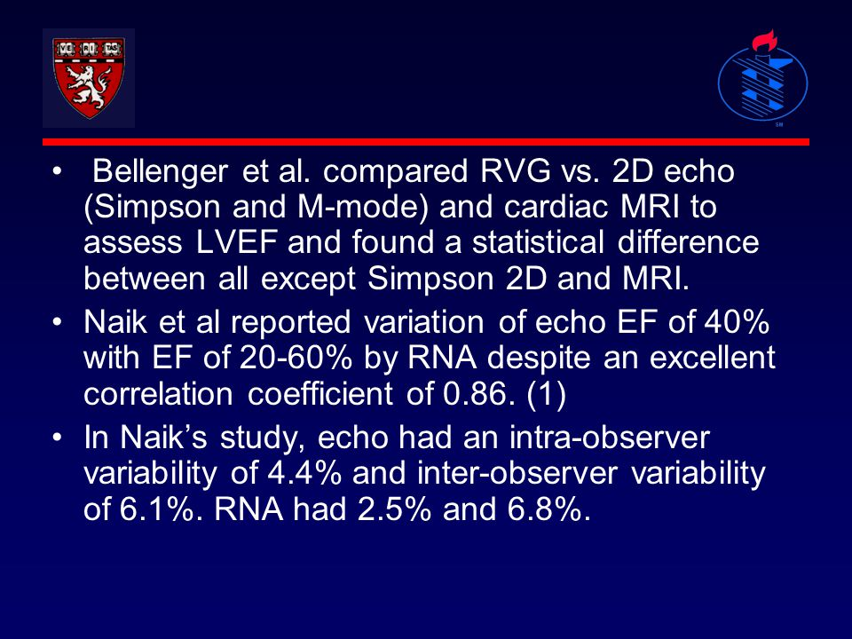 Bellenger et al. compared RVG vs