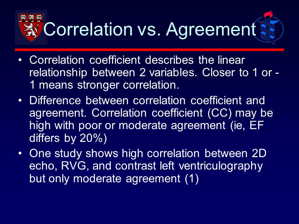 Correlation vs. Agreement