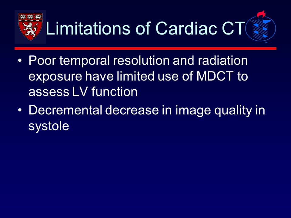 Limitations of Cardiac CT