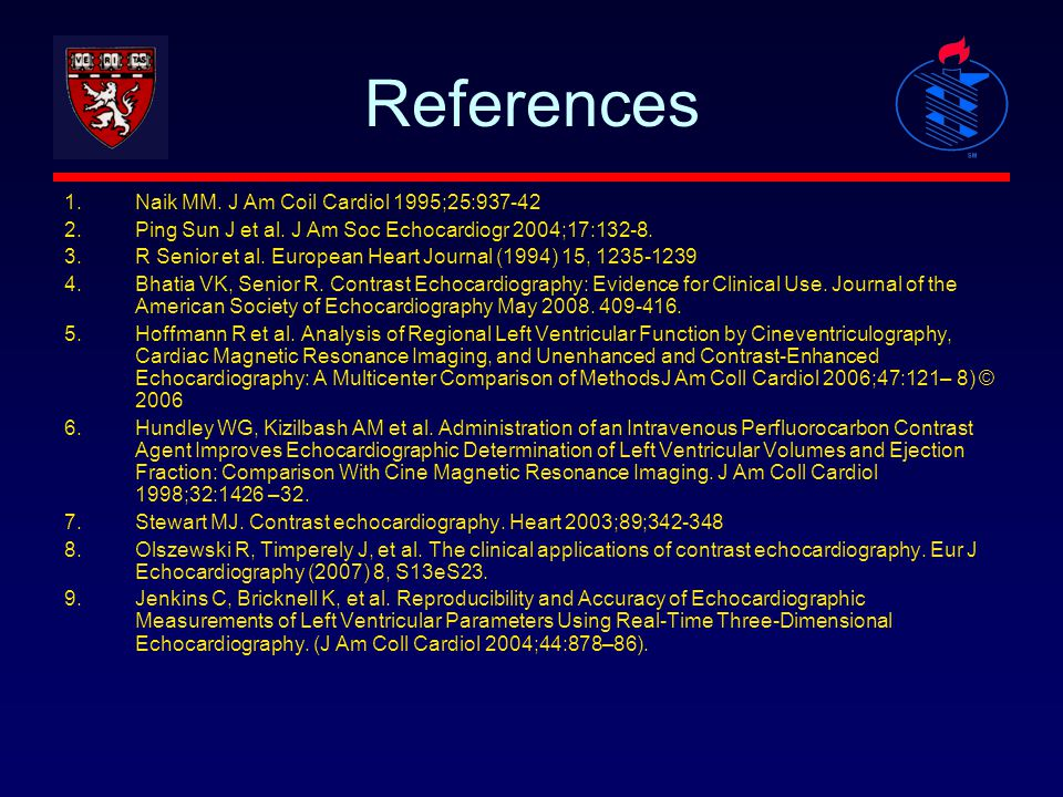 References Naik MM. J Am Coil Cardiol 1995;25:937-42
